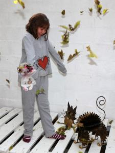 Pijama básico infantil amor