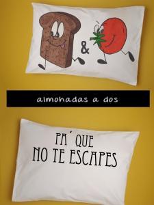 Almohada a dos Adulto Pan y Tomate