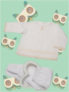 Camiseta bebé puntillay jaretas personalizada