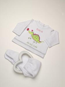 Conjunto Camiseta bebé batista básica dragón + pelele