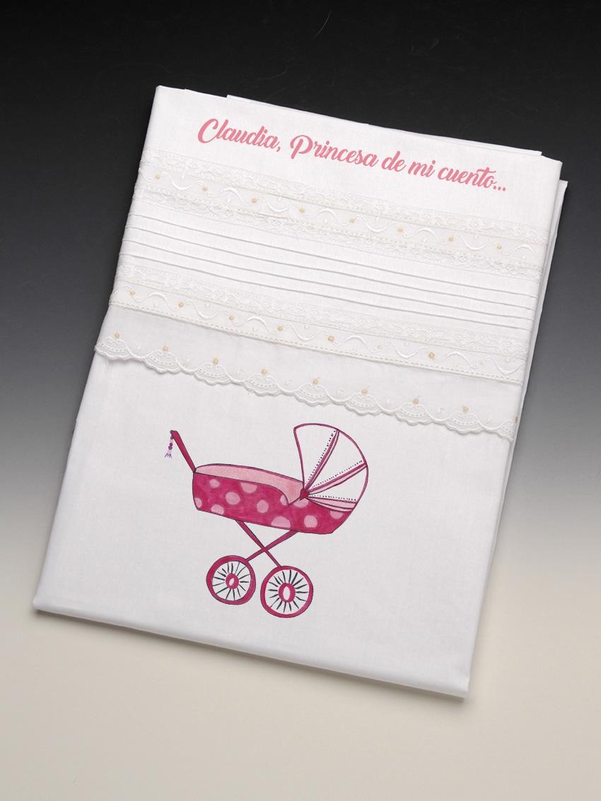 """Colección Sábana bebé  Carrito """"Mimitos"""" lenceria maternal Exclusiva"""