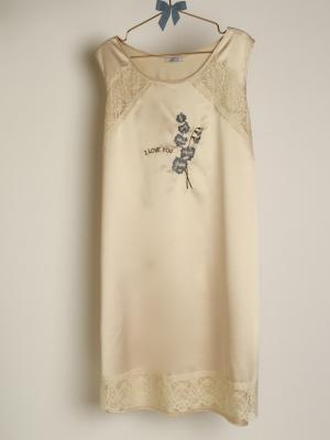 Camisón clasico bordado floral lenceria maternal Exclusiva