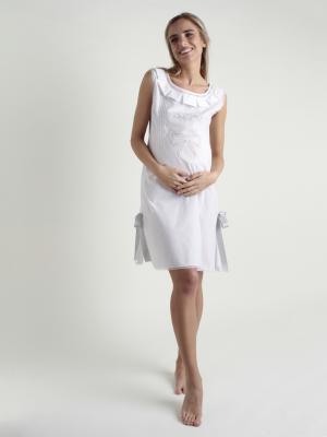 Camisón maternal bordado