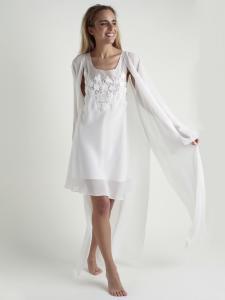 Conjunto de Bata y Camisón  línea romántica con encaje floral lenceria maternal Exclusiva