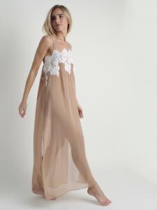 Camisón romántico con encaje floral lenceria maternal Exclusiva
