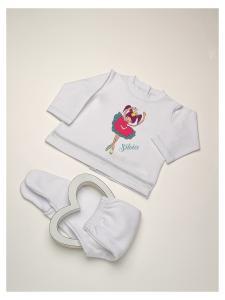 Conjunto Camiseta bebé batista básica bailarina + pelele