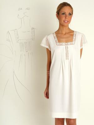 Camison femenino clásico blanco